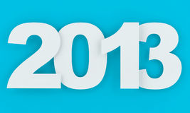 2013 - New year. In blue and white Royalty Free Stock Photography