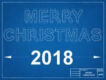 2018 New Year Blueprint Stock Images
