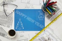 New Year Blueprint Royalty Free Stock Image