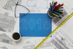 2015 New Year Blueprint Stock Photos