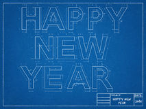 New Year Blueprint. Shoot of the New Year Blueprint vector illustration