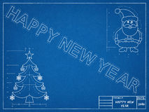 New Year Blueprint Royalty Free Stock Images