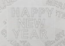 New Year Blueprints Stock Photo