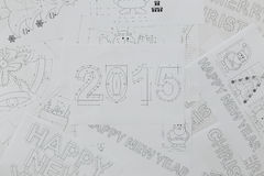 New Year Blueprints Royalty Free Stock Photography