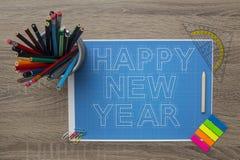 New Year Blueprints Stock Image