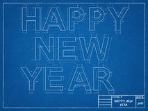 New Year Blueprints. Tehnical drawing of New Year Blueprints Royalty Free Stock Image