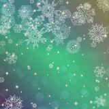 New year blur background with snowflakes Royalty Free Stock Photography