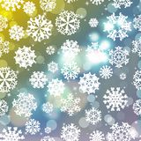New year blur background with snowflakes Stock Photography
