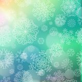 New year blur background with snowflakes Royalty Free Stock Images