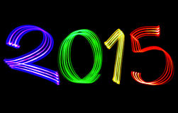 New Year 2015 Blurred Color Lights Stock Photography