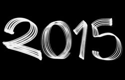 New Year 2015 Blurred White Lights Royalty Free Stock Photos