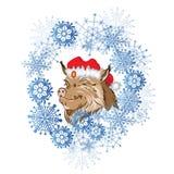 New Year 2019 boar Royalty Free Illustration