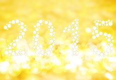 New Year 2015. On bokeh background Stock Images
