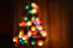 New Year, bokeh effect play with focus. Stock Images