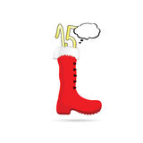 New year boot with 2015 color vector. Illustration Stock Photos