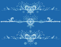 New Year borders Stock Images
