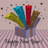 New Year box Stock Images