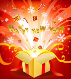 New year box Royalty Free Stock Photo