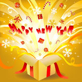 New year box Royalty Free Stock Image
