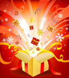 New year box Royalty Free Stock Photos