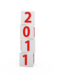 New year boxes. 3d render of New year boxes isolated on white Stock Photography