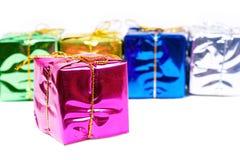 New year boxes on white Royalty Free Stock Photos