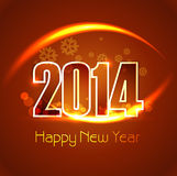 New Year 2014 bright colorful for celebration back Stock Images