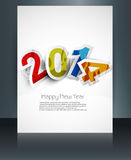 New year 2014 brochure colorful text celebration f Royalty Free Stock Photos