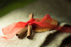 New year. Brown spices, cinnamon sticks, food Stock Photo