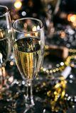 New Year: Bubbly Champagne To Toast The New Year Royalty Free Stock Photo