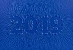 New Year 2019 - Building the future together, as a team. royalty free stock image