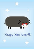 New year of a bull Stock Photo