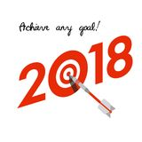 New Year 2018 business concept Stock Image