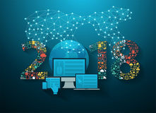 2018 new year business innovation technology Royalty Free Stock Photo