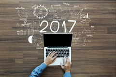 2017 new year business success Royalty Free Stock Photo