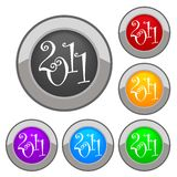 New year button 2011 Royalty Free Stock Images