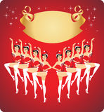 New year cabaret show. New year celebration cabaret show poster design Royalty Free Stock Image