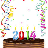 New Year Cake 2014 Stock Images