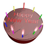 New Year Cake. Isolated illustration of a new year cake Stock Image