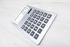 New Year 2014. On calculator Royalty Free Stock Photo