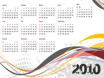 New year calendar. New year concept with vectorial postcard calendar for 2010, vector illustration vector illustration