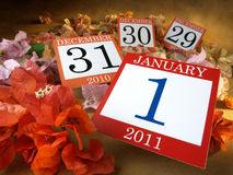 New Year Calendar Royalty Free Stock Photo