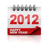 New year calendar. 3d illustration of new 2012 year calendar Royalty Free Stock Photography