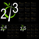 New Year Calendar. Design for the new year 2013, 2014, 2015 Calendar Royalty Free Stock Image