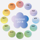 New Year Calendar 2014. Colorful new year calendar 2014 royalty free illustration