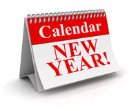 New year calendar. Computer generated image. 3d render Royalty Free Stock Images