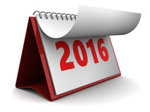 New 2016 year calendar Stock Image