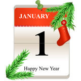 New Year Calendar Date. Vector of Calendar of New Year Date stock illustration