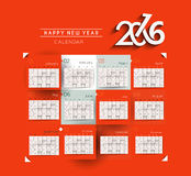 New year 2016 Calendar. Design royalty free illustration