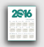 New year 2016 Calendar Stock Photos